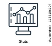 stats icon vector isolated on... | Shutterstock .eps vector #1156106104