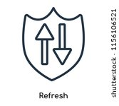 refresh icon vector isolated on ...