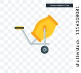 concrete mixer vector icon... | Shutterstock .eps vector #1156108081