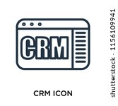 crm icon vector isolated on...   Shutterstock .eps vector #1156109941