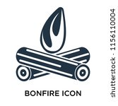 bonfire icon vector isolated on ... | Shutterstock .eps vector #1156110004