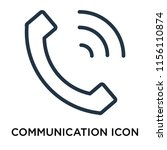 communication icon vector...