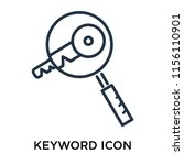 keyword icon vector isolated on ...   Shutterstock .eps vector #1156110901