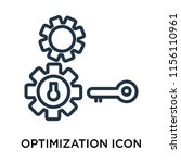 optimization icon vector... | Shutterstock .eps vector #1156110961