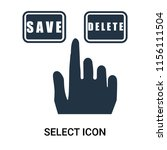 select icon vector isolated on... | Shutterstock .eps vector #1156111504