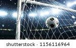photo of the ball that flies... | Shutterstock . vector #1156116964