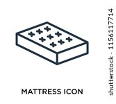 mattress icon vector isolated... | Shutterstock .eps vector #1156117714