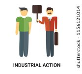 industrial action icon vector...