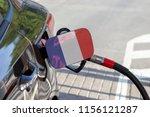 flag of france on the car's... | Shutterstock . vector #1156121287
