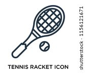 tennis racket icon vector... | Shutterstock .eps vector #1156121671