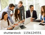 startup business team on... | Shutterstock . vector #1156124551