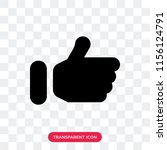 thumb up filled gesture vector... | Shutterstock .eps vector #1156124791