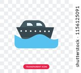 cruise vector icon isolated on...   Shutterstock .eps vector #1156125091
