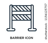 barrier icon vector isolated on ... | Shutterstock .eps vector #1156125757
