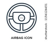 airbag icon vector isolated on... | Shutterstock .eps vector #1156126651