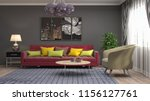 interior of the living room. 3d ... | Shutterstock . vector #1156127761