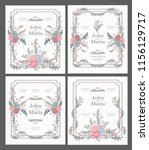 wedding card invitation with... | Shutterstock .eps vector #1156129717