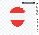austria vector icon isolated on ... | Shutterstock .eps vector #1156130524