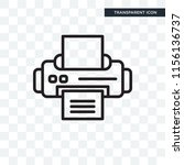 printer vector icon isolated on ... | Shutterstock .eps vector #1156136737