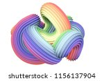 abstract rainbow shape. 3d... | Shutterstock . vector #1156137904