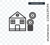 mortgage vector icon isolated... | Shutterstock .eps vector #1156139194