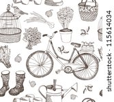 Stock vector garden pattern 115614034