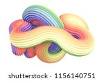 abstract rainbow shape. 3d... | Shutterstock . vector #1156140751
