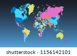 color world map vector | Shutterstock .eps vector #1156142101