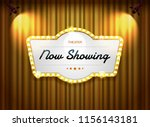 theater sign on curtain with... | Shutterstock .eps vector #1156143181