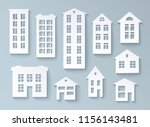 set of abstract buildings made... | Shutterstock .eps vector #1156143481