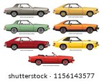 collection of vector... | Shutterstock .eps vector #1156143577