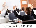 group of high school students... | Shutterstock . vector #115614901