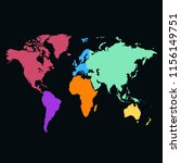 world map vector | Shutterstock .eps vector #1156149751