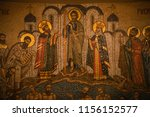 a detailed view with frescoes... | Shutterstock . vector #1156152577