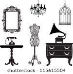 antique furniture | Shutterstock .eps vector #115615504