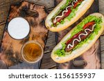 national hot dog day... | Shutterstock . vector #1156155937