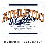 sports graphic for apparel | Shutterstock .eps vector #1156164607