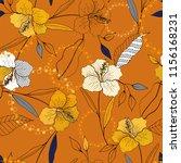 blossom floral seamless pattern.... | Shutterstock .eps vector #1156168231