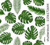 seamless hand drawn tropical...   Shutterstock . vector #1156172644