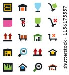 color and black flat icon set   ... | Shutterstock .eps vector #1156175557
