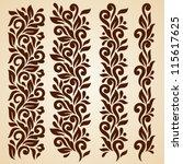 vector set of floral elements.... | Shutterstock .eps vector #115617625