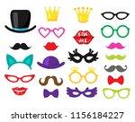 vector set of 23 piece photo... | Shutterstock .eps vector #1156184227