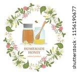 Vector Illustration Of Honey...