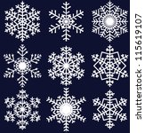 beautiful snowflakes set for...