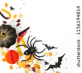 halloween holiday frame with... | Shutterstock . vector #1156194814