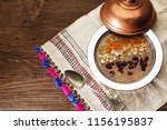 traditional noah's pudding ... | Shutterstock . vector #1156195837