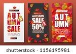 autumn sale banner layout...   Shutterstock .eps vector #1156195981