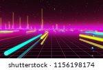 80s futurism neon tube | Shutterstock . vector #1156198174