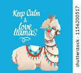 illustration with llama and... | Shutterstock .eps vector #1156200517