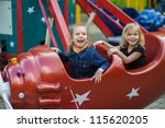 Two Funny Sisters On Carousel...